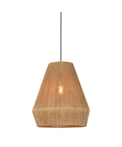 Hanging lamp Iguazu jute natural, L