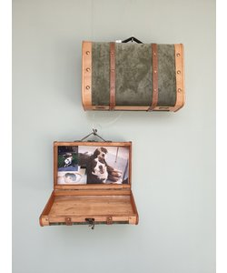 Vintage kofferset 38x13x45 en 45x16,5x29