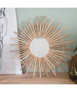 Bamboe spiegel naturel