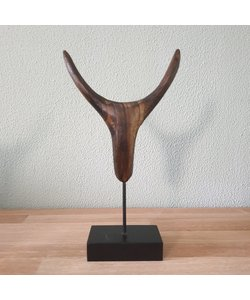 Sculpture Horns S hout 6 x 6 x 28 cm