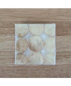 Onderzetters parelmoer 6 stuks set