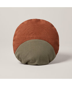 MOONRISE kussenhoes - Groen en oranje/zalmkleurig