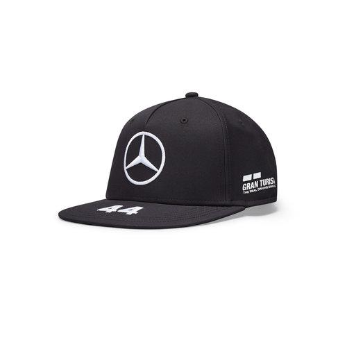 Mercedes Mercedes Lewis Hamilton Cap Plat Zwart