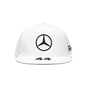 Mercedes Mercedes Lewis Hamilton Cap Plat Wit