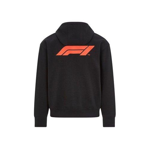 Formule 1 Logo Hoody met Rits 2021 Zwart