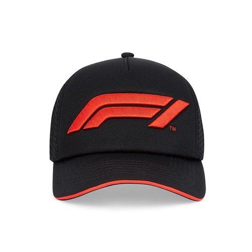 Formule 1 F1 FW LARGE LOGO TRUCKER CAP Zwart