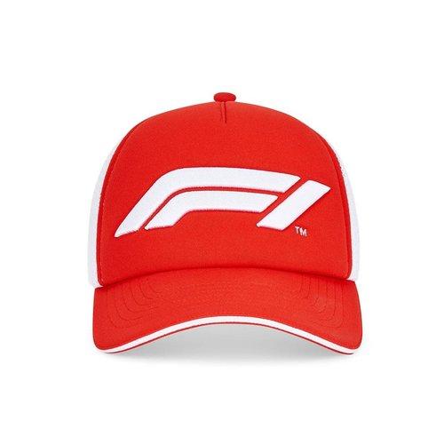 Formule 1 F1 FW LARGE LOGO TRUCKER CAP Rood / Wit 2021