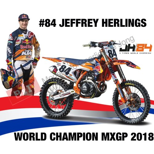 Ktm 450 SX-F #84 JEFFREY HERLINGS (DUTCH RIDER) 1:6 Maisto
