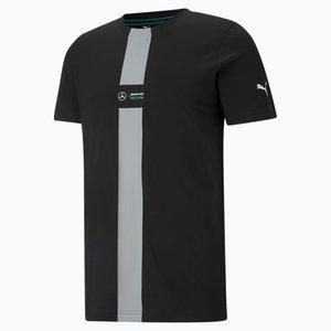 Mercedes Mercedes T-shirt Zwart met Grijze lijn