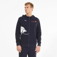 Red Bull Reacing Hoody White Bull Blauw 2021