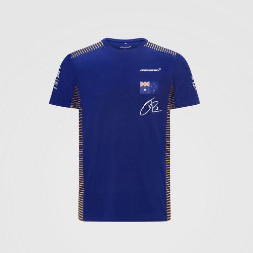 MCLaren MCLaren Ricciardo T-shirt Blauw Nr 3