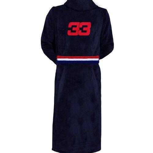 Badjas 33 Blauw - Rood