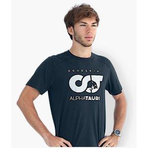Alphatauri Alphatauri logo T-shirt  blauw