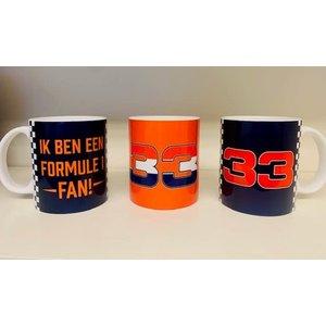 Mok Formule 1 Fan Blauw en Oranje Set
