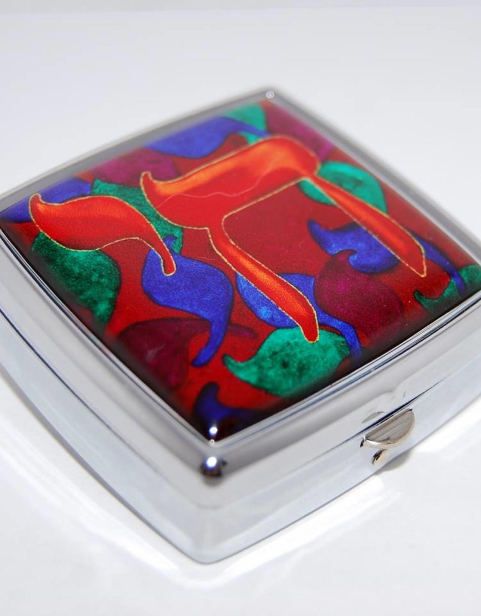 Chaipainter Pillendoosje kleurrijk leven