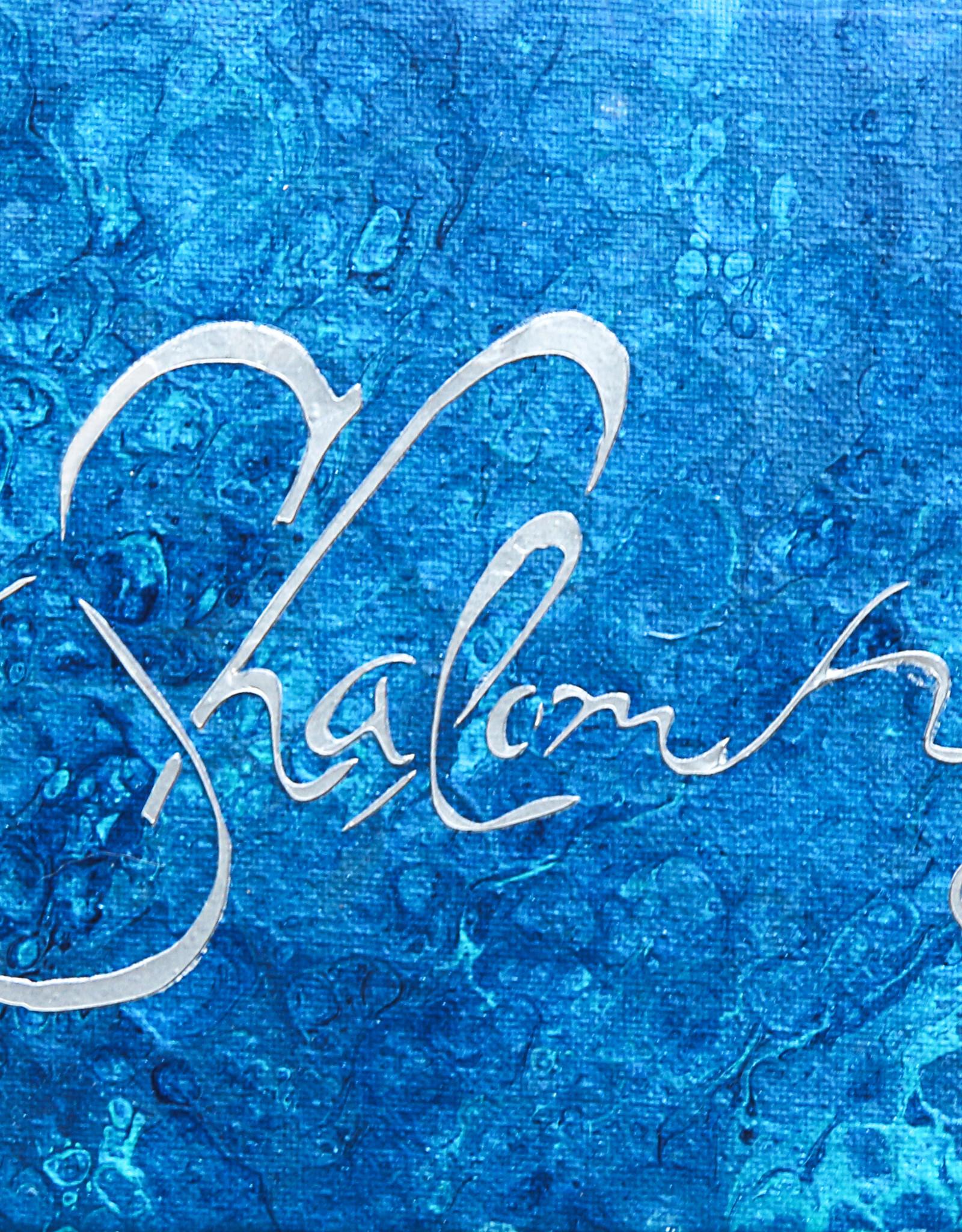 Chaipainter Shalom schilderij, origineel kunstwerk