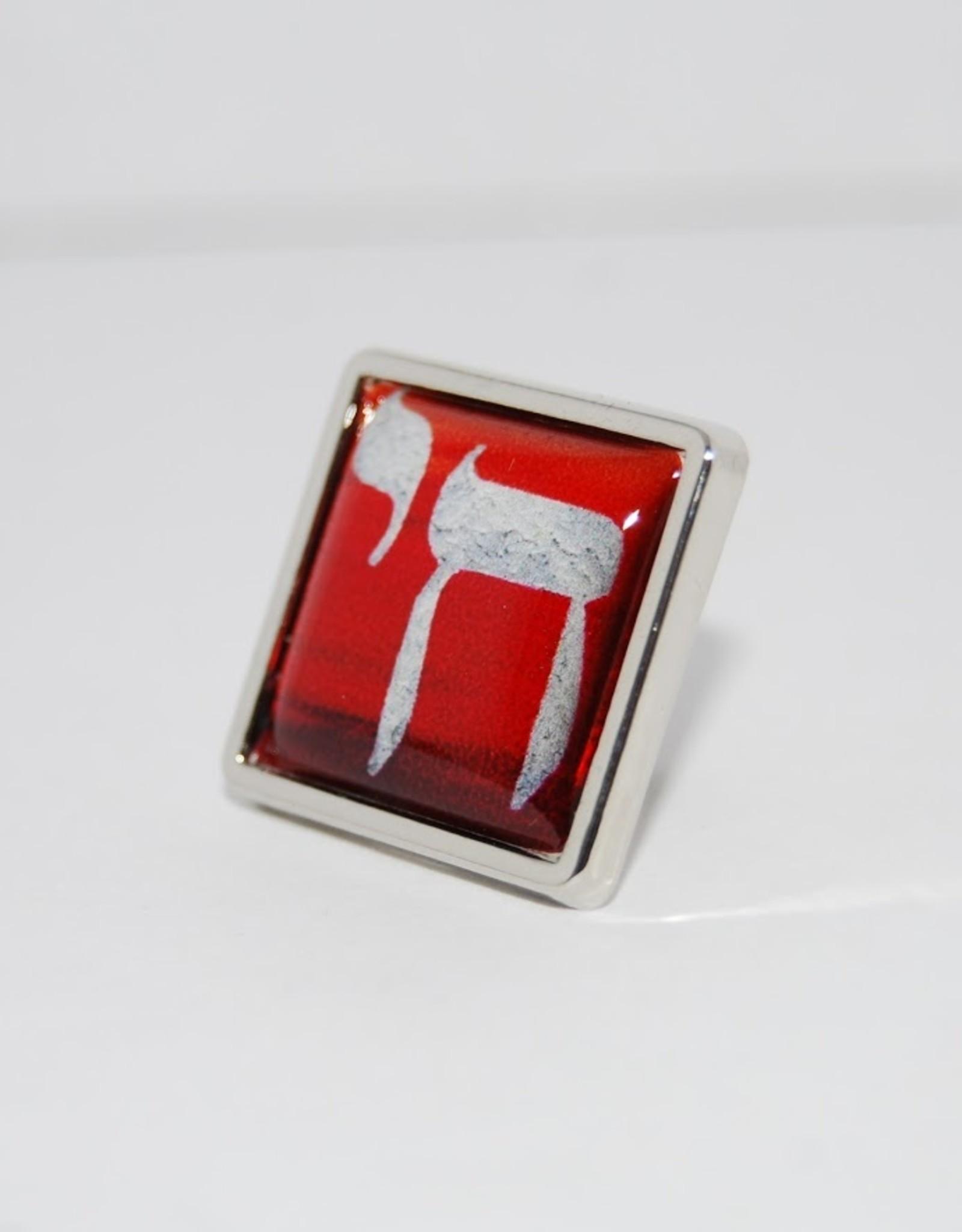 Chai pin brooch   Sundown in Silver