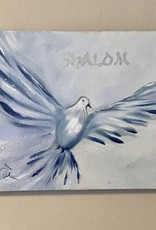 Shalom in blauw en zilver