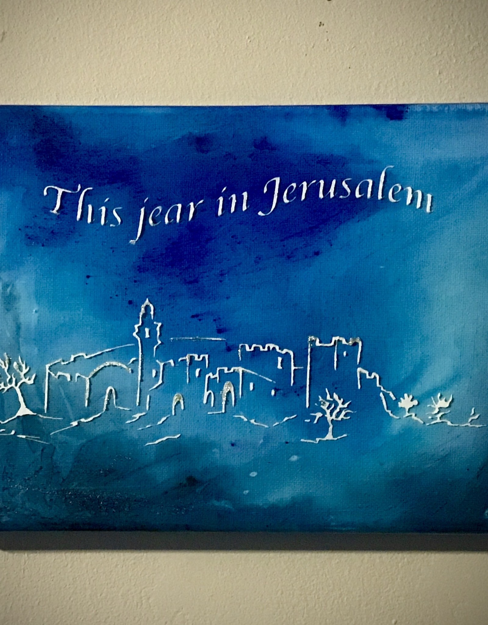 Chaipainter  This year in Jerusalem. Original artwork.