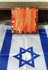 Chaipainter Chai schilderij  in rood en oranje.