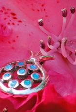 Silver pomegranate pendant