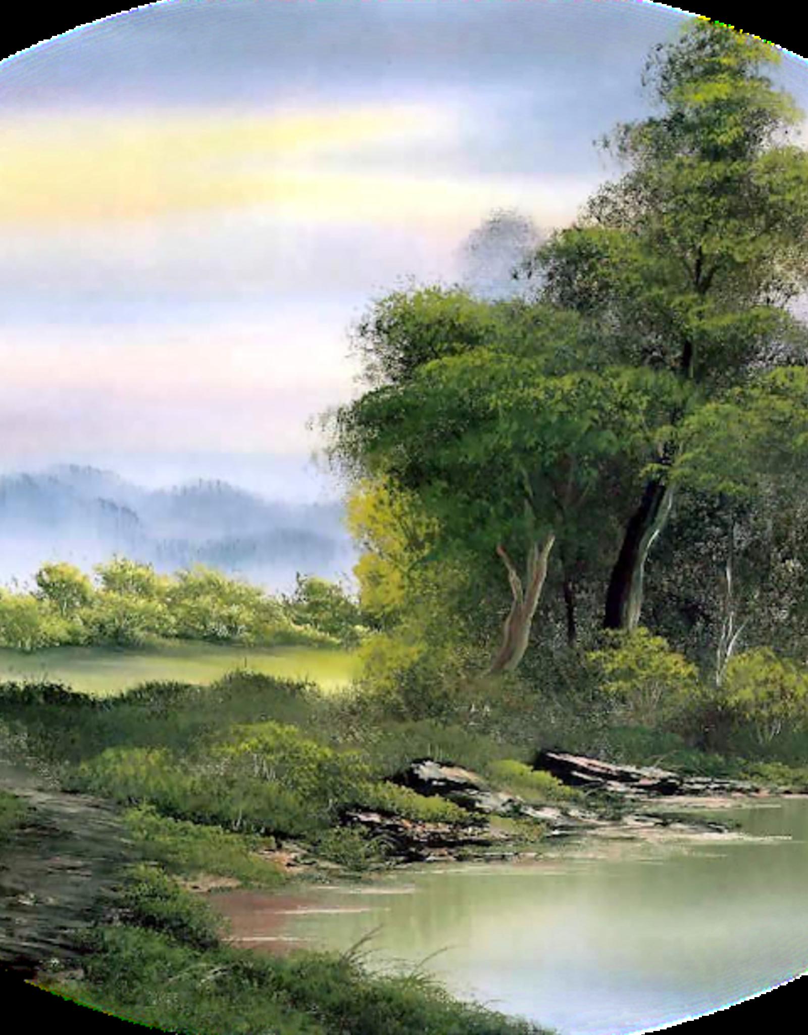 Bob Ross vier uur durende schilderles