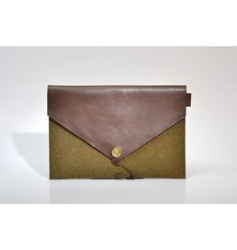 P.A.P. Saltholmen iPad Air cover Moss/Brown