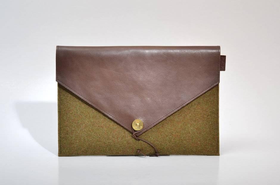 P.A.P. Saltholmen iPad Air cover Moss/Brown