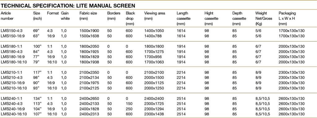 "Kingpin Kingpin LMS210-16:9 (90"")"
