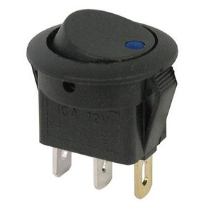 12v Rocker switch blue