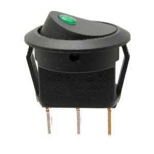 12v Rocker switch green