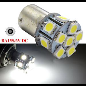 BA15S 6V 12x 5050smd white