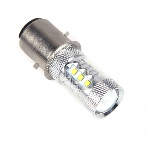 BA20D H6 80W CREE XBD Xenon High Power 16 LED 10-30V voor scooter/brommer/motor