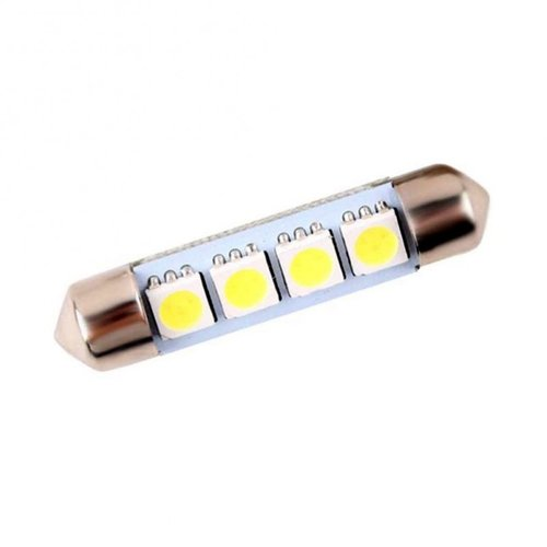 Festoon C5W 4 LED SMD 5050 (42MM) wit
