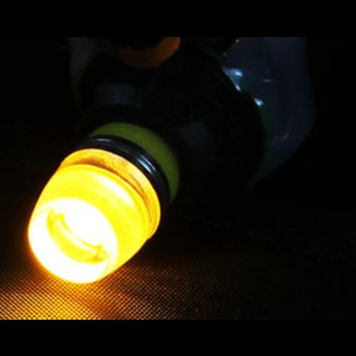 (new) W5W T10 1W highpower glow-head LED geel/amber