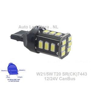 *T20 W21w/5w SR(CK)7443 18x 5730SMD CanBus Wit