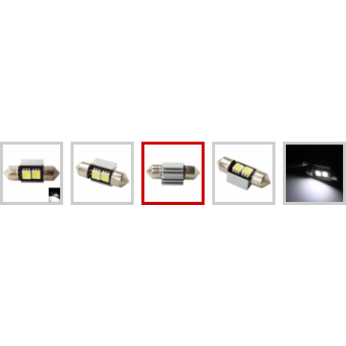 31mm 5050SMD 2 LED Canbus Xenon wit