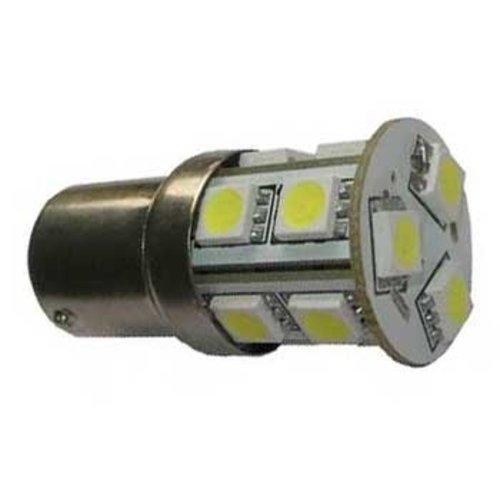 BA15S 1156, 13x LED SMD 5050 Rood
