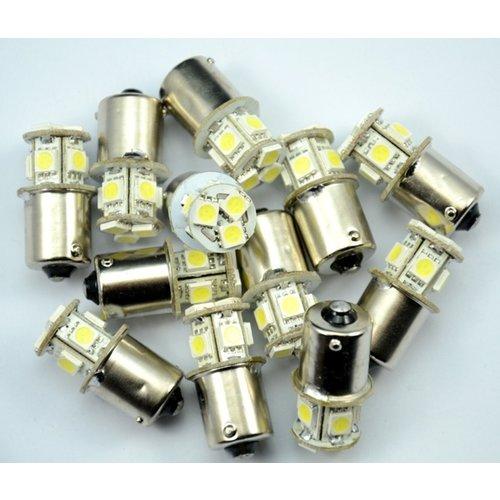 BA15S 9x 5050smd LED xenon wit R5W