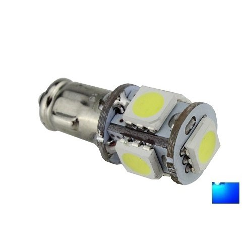 BA7S 5X 5050SMD LED Blauw 12v