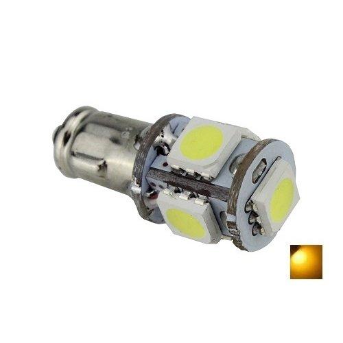 BA7S 5X 5050SMD LED Geel/Amber 12v