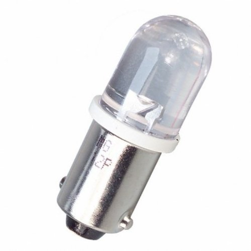 BA9S / H6W 1 LED (bol) wit