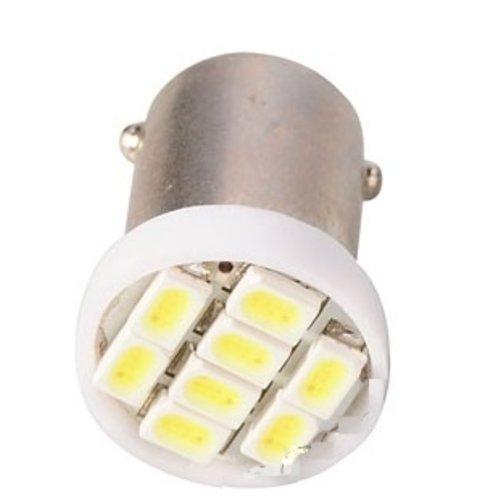 BA9S 8st 1210SMD LED WIT