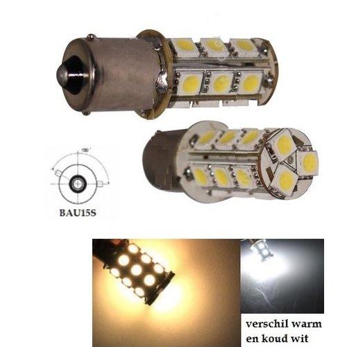 BAU15S (1156) 18x 5050SMD led ''WARM WIT''