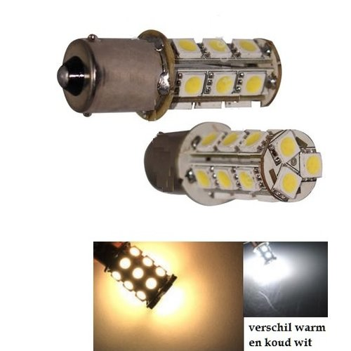 BAU15S (1156) 18x 5050SMD led WARM WIT