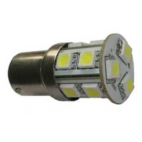 BAU15S 1156, 13 LED SMD 5050 xenon wit
