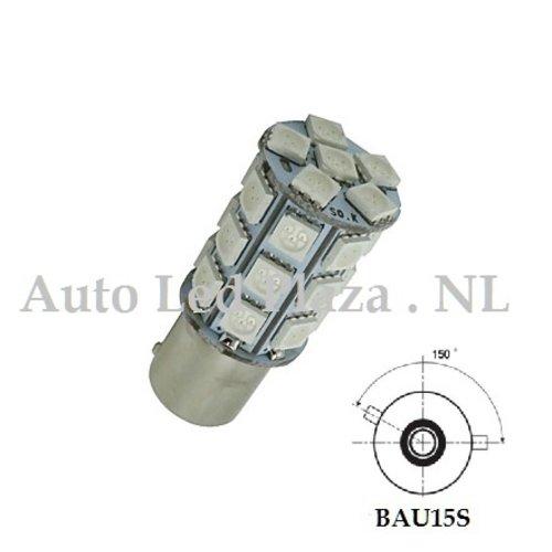 BAU15S 27x 5050SMD LED geel/amber