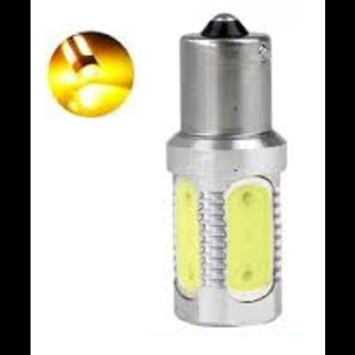 BAU15S 7,5W COB high power led  geel/amber