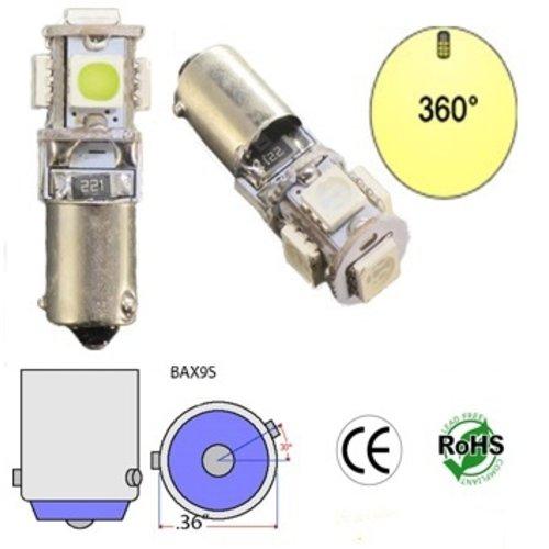 BAX9S LED 5X 5050SMD LED xenon wit Canbus