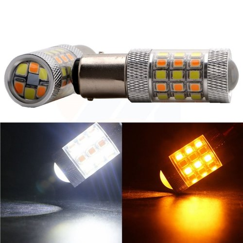BAY15D Dual color (wit/geel) 40x 2835 SMD LED